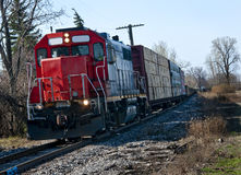 Red Lumber Train Stock Photography