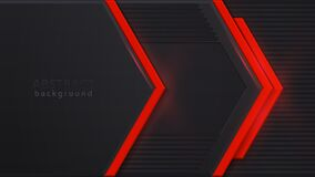 Free Red Luminous Arrow. Red And Black Contrast Abstract Technology Background. Layout Design Tech. Vector Corporate Design. Stock Photo - 169413450