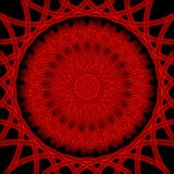 Red luminous ornament. Red graphic ornament with luminous patterns on black background Royalty Free Stock Images