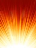 Red luminous rays. EPS 8 Stock Photo