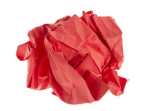 Red lump paper royalty free stock photos