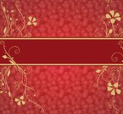Red luxurious background with place for text Royalty Free Stock Photo