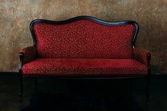 Red luxurious sofa Royalty Free Stock Photos