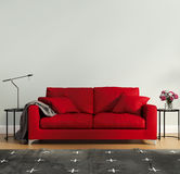 Red Luxury Bedroom With Rug Stock Images