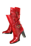 Red luxury boots Stock Photography