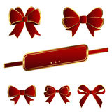 Red Luxury bows template vector design Stock Image