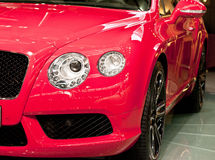 Red luxury car. Head of red luxury car Stock Images