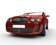Red Luxury Car Stock Photography