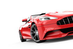Red luxury car isolated on a white background Royalty Free Stock Photos