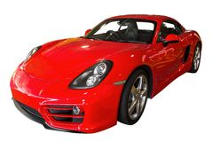 Red Luxury Car Royalty Free Stock Images