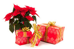 Red luxury Christmas gifts Stock Photos