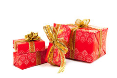 Red luxury Christmas gifts Royalty Free Stock Images