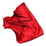 Red luxury flying silk cloth. Design element Royalty Free Stock Image