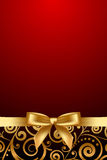 Red and luxury frame with gold ribbon Stock Photography