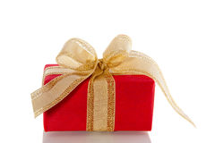 A red luxury gift with ribbon Royalty Free Stock Photo