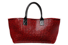 Red luxury leather bag Royalty Free Stock Image