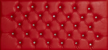 Red luxury leather diamond studded background