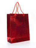 Red luxury shopping bag Royalty Free Stock Photography