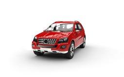 Red Luxury SUV Stock Photo
