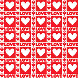 Red lve valentine seamless background Royalty Free Stock Image