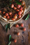 Red Lychees Royalty Free Stock Photo