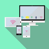 Red móvil responsiva ilustración del vector