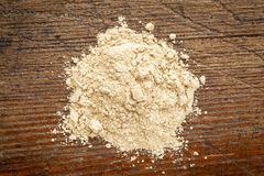 Red maca root powder Royalty Free Stock Photos