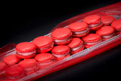 Red macaroons Stock Images