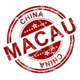 Red Macau stamp Royalty Free Stock Image