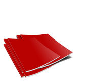 Red magazines Royalty Free Stock Photos