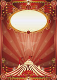 Red magic circus background Stock Photos