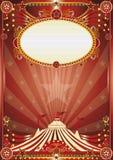 Red magic circus background Stock Photos