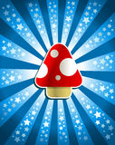 Red Magic Mushroom Stock Photo