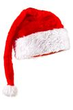 Red Magic Santa Hat. Red Santa Claus Hat. Isolated on white Stock Image