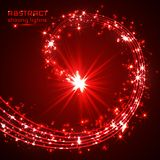 Red magic sparkle glittering light.  Stock Photography