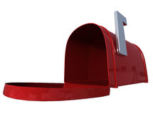 Red mail box. Red retro metal mail box Stock Illustration