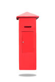 Red Mail Box, clipping path Royalty Free Stock Image