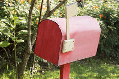 Red mail box Royalty Free Stock Photo