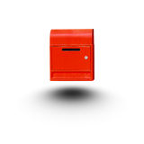 Red mail box isolated white background Royalty Free Stock Photography