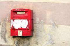 Red Mail Box Italy Stock Photos