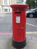 Red mail box in London Royalty Free Stock Images