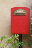Red mail box. Sending my love to red mail box Stock Photo