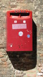 Red mail box Royalty Free Stock Photos
