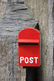 Red mail box Stock Image