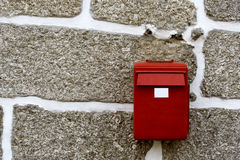 Red mailbox royalty free stock photos