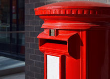Red mailbox in Birmingham downtown Royalty Free Stock Images