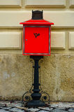 Red mailbox. Stock Photos