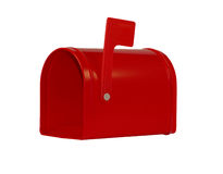 Red mailbox - empty Royalty Free Stock Photos