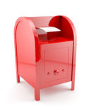 Red mailbox with envelope Royalty Free Stock Photography