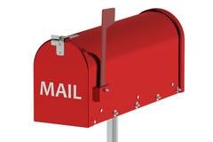 Red Mailbox Stock Image